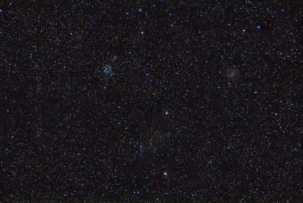 M35 - Shoe-Buckle CLuster ; NGC2174 - Monkey Head Nebula ; IC443 - Jellyfish Nebula