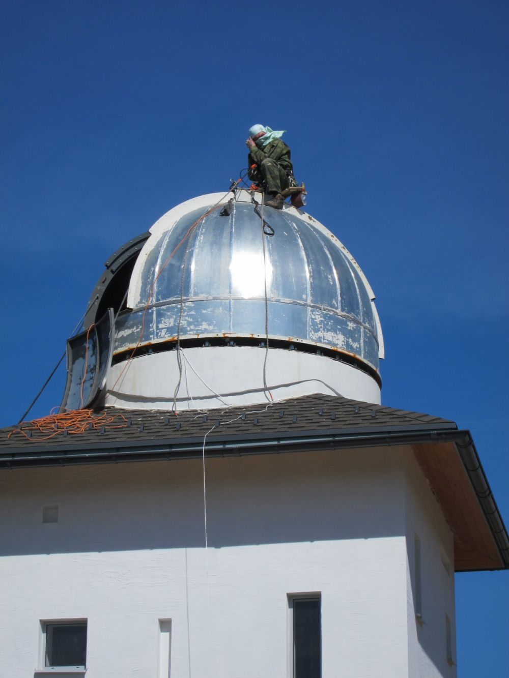 Перекраска купола обсерватории