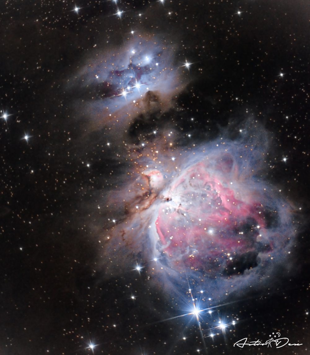 M42 Great orion nebula & running man nebula