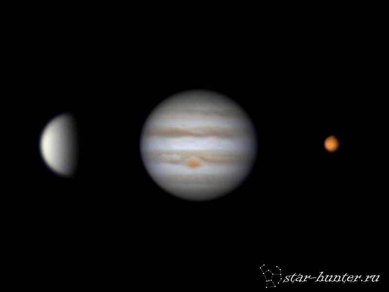 Venus, Jupiter, Mars (26 november 2015)