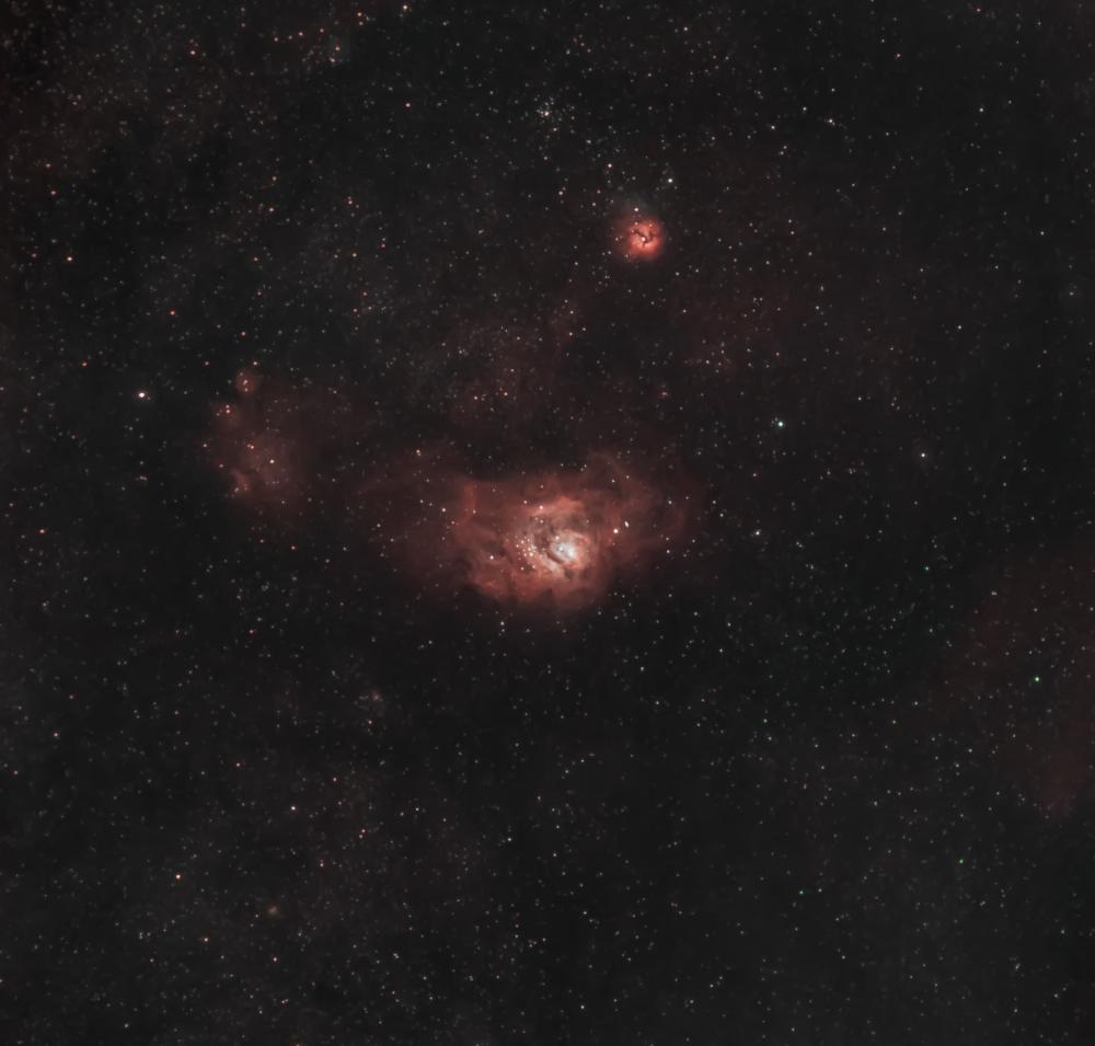 Lagoon & Trifid Nebula's