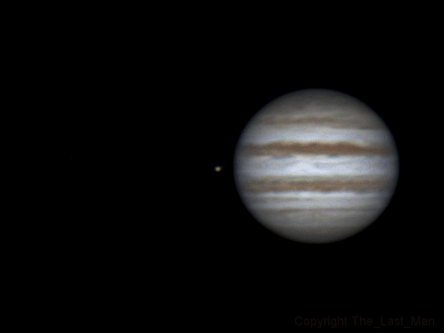 Rotation of Jupiter and Io (22:14-00:09, 04-05 feb 2015)