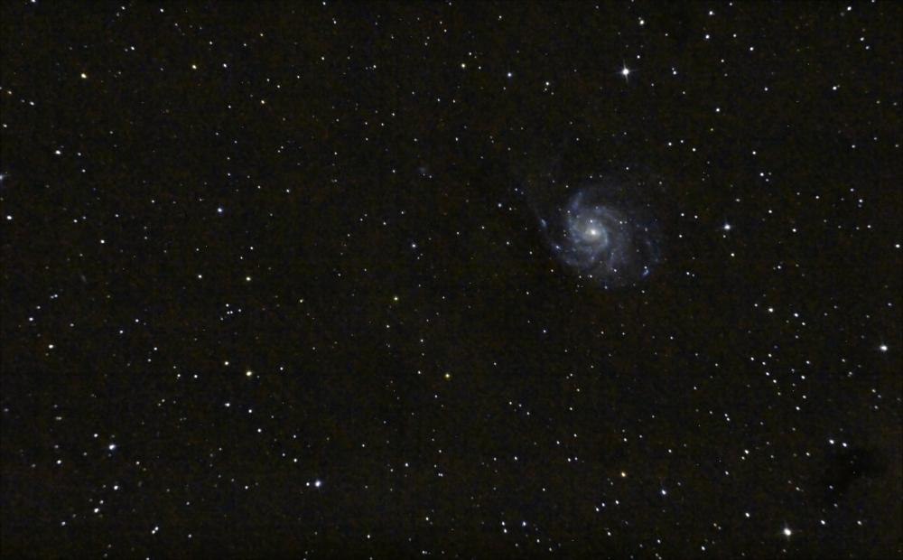 Галактика Вертушка M101. 03-04.04.2021
