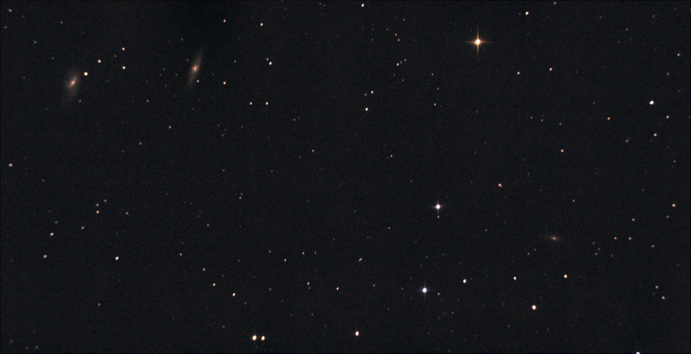 Трио галактик NGC 3628, М 65 и М 66. М 66 в созвездии Льва. 10.04.2021.