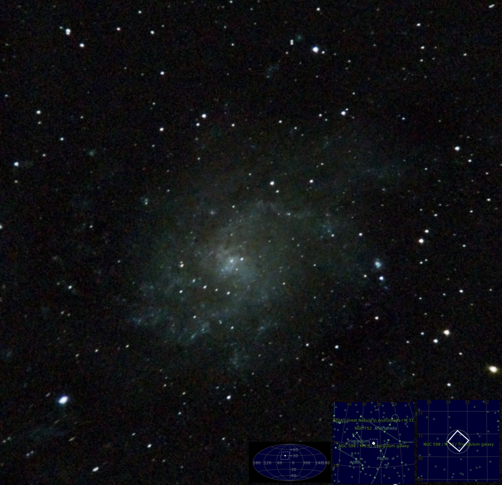 Triangulum Galaxy, M33, NGC 598