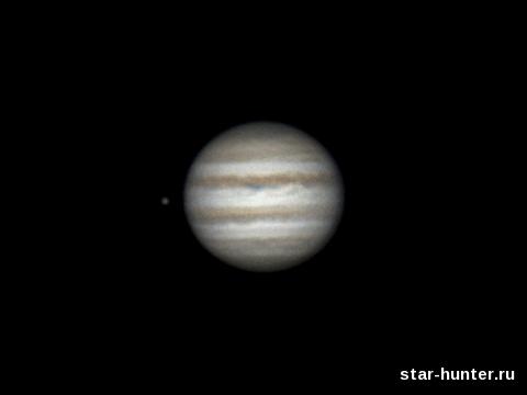 Jupiter and Ganymede, 22 january 2015, 23:45-23:56