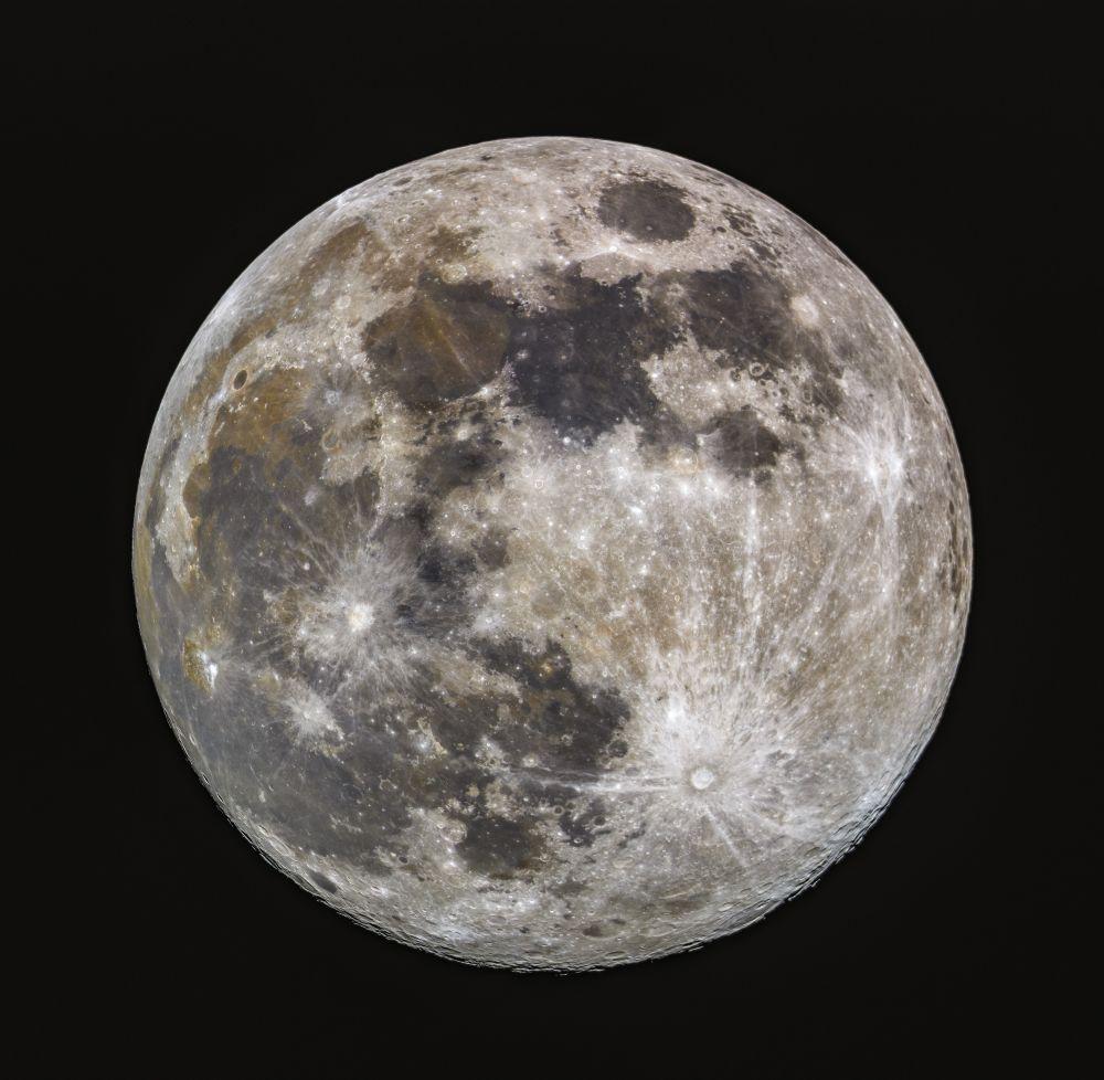 Moon RGB (ver. 2.0) - астрофотография