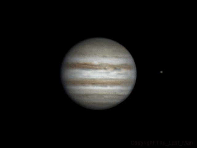 Rotation of Jupiter and Europa (24 apr 2015, 20:45-21:27 UTC+3)