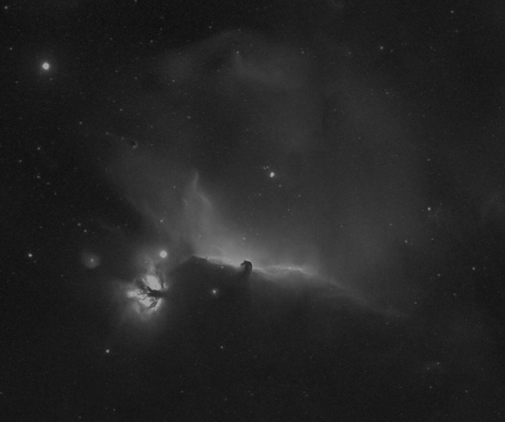 Flame Nebula , Horsehead Nebula in H-Alpha