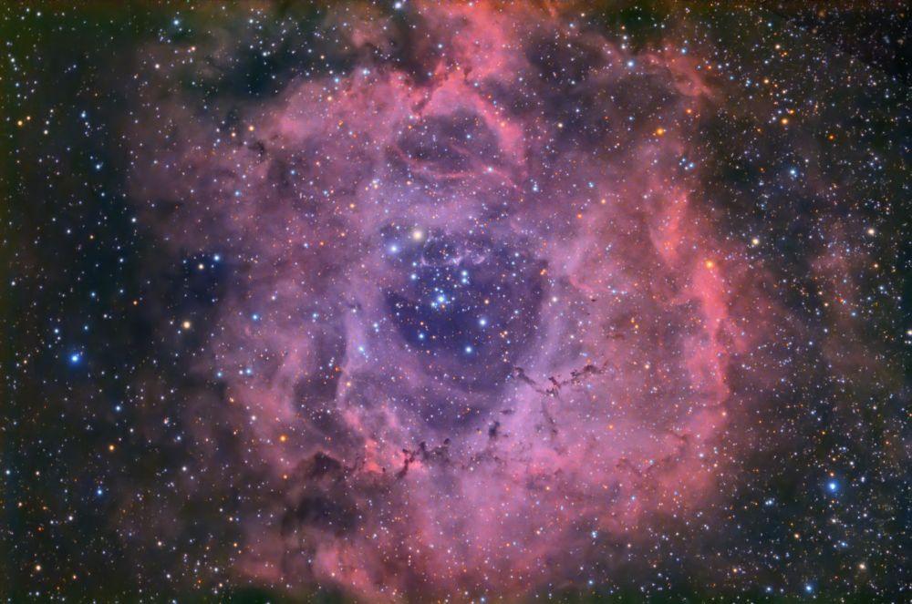 """Туманность """"Розетка"""" , NGC2237, L(Ha)RGB"""