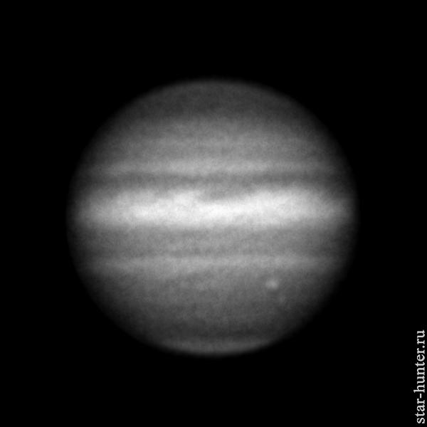 Jupiter in the line of methane, June 23, 2019, 21:58.