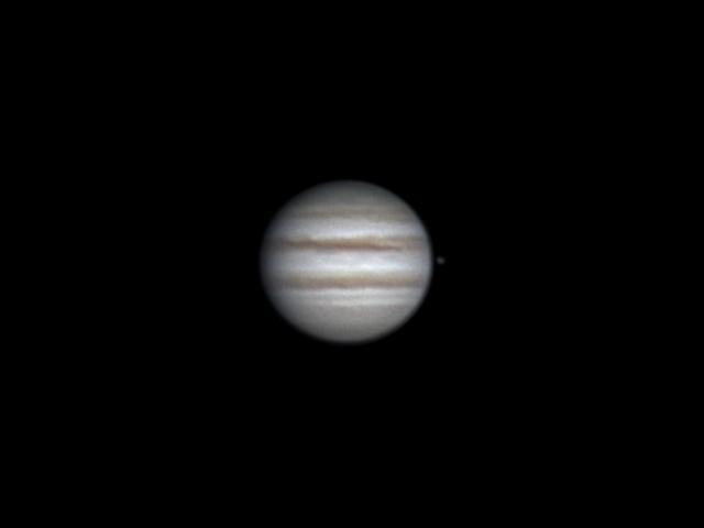 Jupiter and Io (5 apr 2015, 22:45)