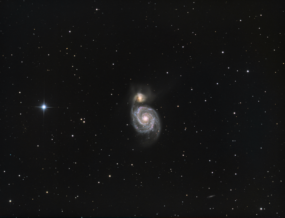 M51 Whirpool Galaxy HaLRGB