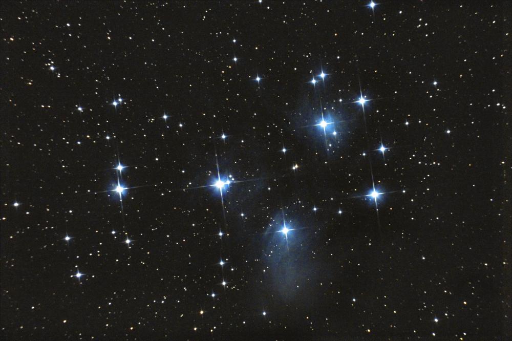 Скопление Плеяды М45. 08.11.2020