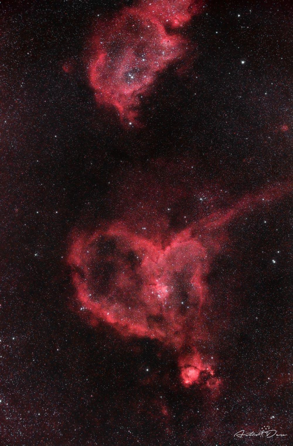 IC1805 & IC1848 - The Heart and Soul Nebulae