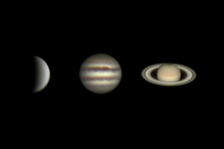 Venus, Jupiter and Saturn (18 june 2015)