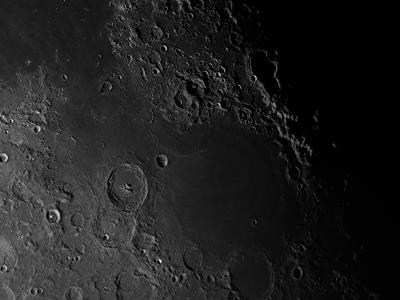 Залив Суровости и море Нектара (Sinus Asperitatis and Mare Nectaris) - астрофотография