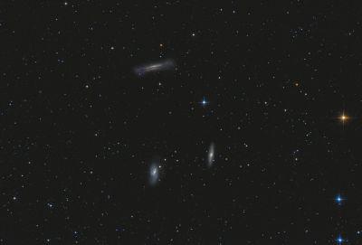 Leo Triplet - M65, M66, NGC3628 - астрофотография