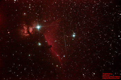Horsehead and Flame Nebula - астрофотография