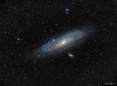 M31 Andromeda galaxy & M110 galaxy - астрофотография