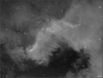 """Фрагмент туманности """"Северная Америка"""" (NGC 7000) - астрофотография"""
