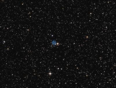 Abell 72 Planetary nebula in Delphinus OIIIRGB - астрофотография