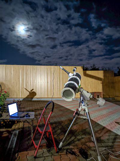 Съёмка Юпитера в последний день лета - астрофотография
