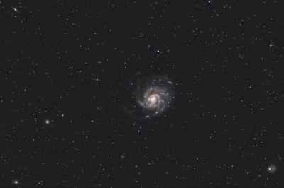 2020-04-16 Pinwheel Galaxy - астрофотография