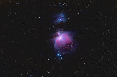 М42, М43, NGC 1977 - астрофотография