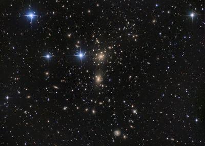 Abell 1656 (Coma Cluster) Скопление Волос Вероники - астрофотография