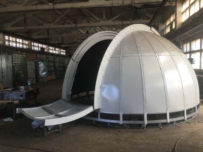Купол обсерватории 4,6м на этапе сборки.  - астрофотография