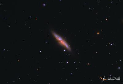 M82 Галактика «Сигара» - астрофотография