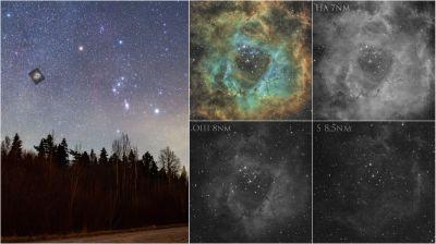 """Туманность """"Розетка"""" (как это сделано) - астрофотография"""