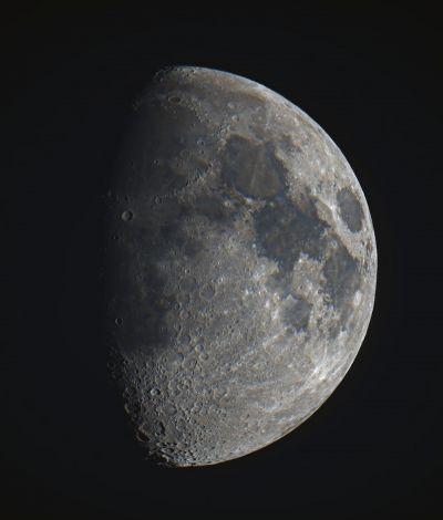 Moon (color) - астрофотография