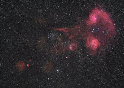 IC 405 и IC-410 в созвездии Возничего - астрофотография