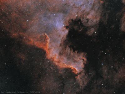 Фрагмент туманности Северная Америка (NGC7000). - астрофотография