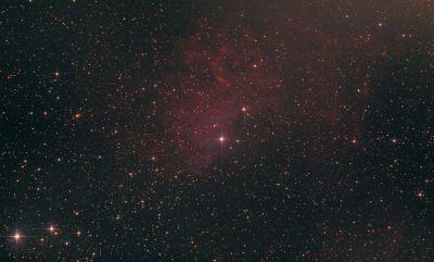 """IC 405 (""""Туманность пламенеющей звезды"""") - астрофотография"""