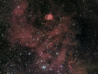 SH2-54 egg nebula in serpens Ha_UHC-S_RGB - астрофотография