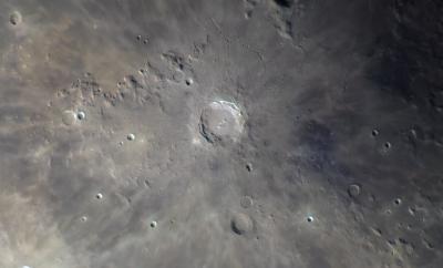 Moon 04.08.2018. Copernicus, Reinhold. - астрофотография
