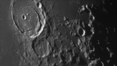 Кратер Posidonius и его окрестности - астрофотография