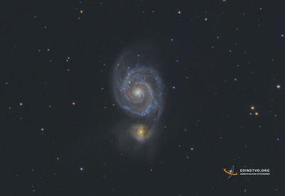 M51 - галактика «Водоворот» - астрофотография