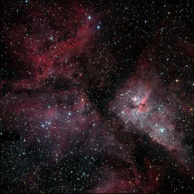 NGC 3372 (Туманность Киля) - астрофотография