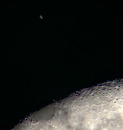 Saturn and Moon conjunction  - астрофотография
