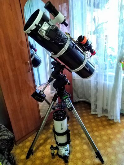 Мой астрограф на базе телескопа Sky-Watcher BKP 2001 и монтировки Celestron CG-5 Advanced GT. - астрофотография