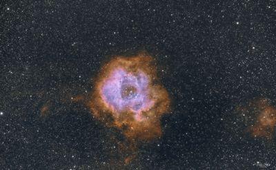 NGC 2237 Rosette nebula SHO faked with Pixinsight - астрофотография