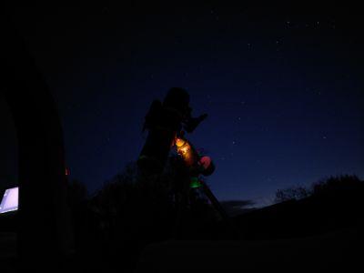 150PDS за работой - астрофотография