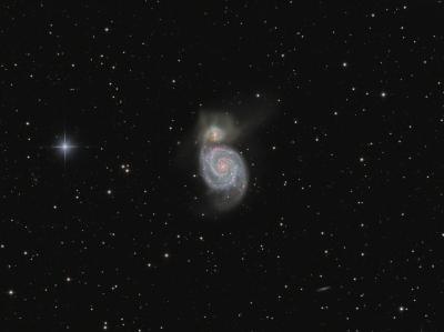 M51/NGC5194 (Galaxy) HaLRGB - астрофотография