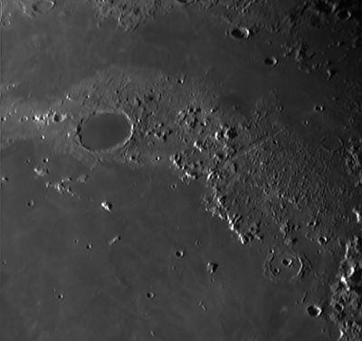 Кратер Платон, Альпы - астрофотография