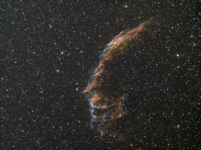 NGC 6992 Ha+OIII R G B - астрофотография