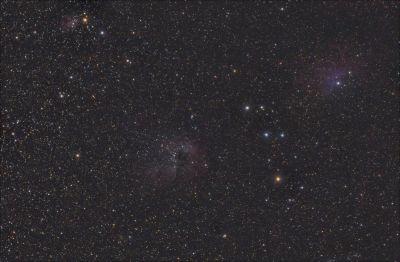 IC 410 + IC 405 - астрофотография